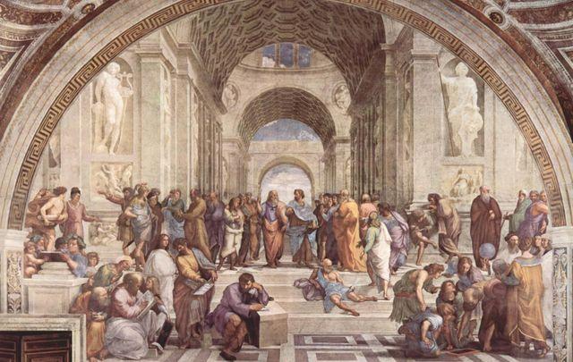 Philosophy or The School of Athens, Raphael, Renaissance, 1510–1511 CE