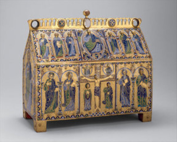 Chasse with the Crucifixion and Christ in Majesty -  Romanesque - 1180 to 1190