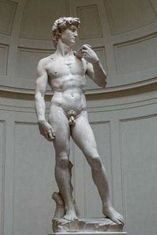 David - Michelangelo di Lodovico Buonarroti Simoni - Renaissance - 1501 to 1504