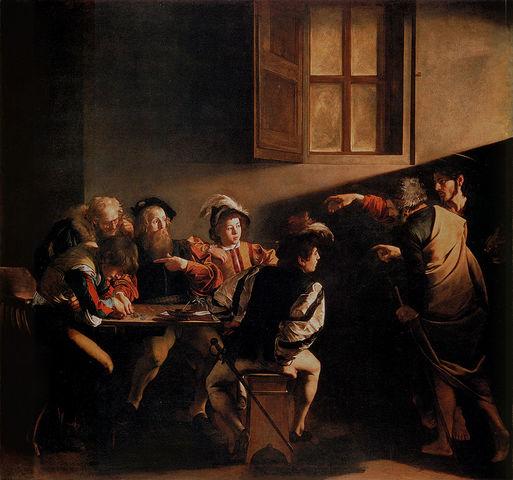 The Calling of St. Matthew - Michelangelo Merisi da Caravaggio - Baroque - 1599 to 1600