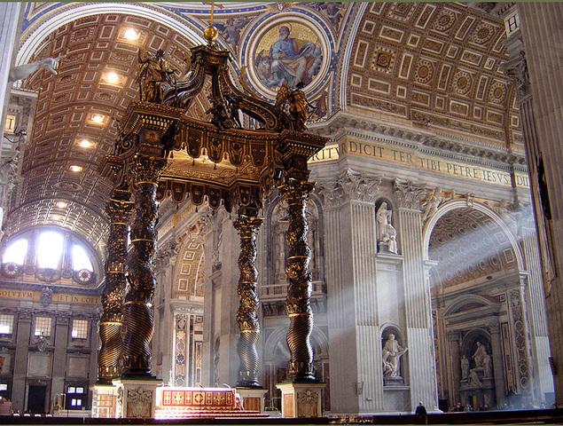 St. Peter's Baldachin - Gian Lorenzo Bernini - Baroque - 1623 to 1634