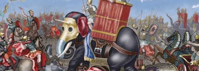 Rome defeats Carthage in Punic Wars.