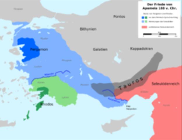 The treaty of Apamea Kibotos.