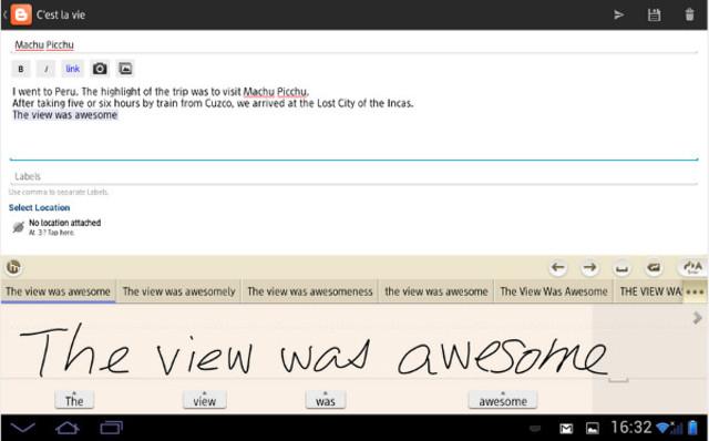 Escritura a mano (Texto y procesamiento de software)