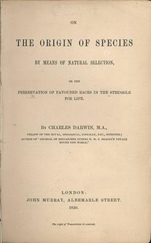 """""""El origen de las especies"""" de Darwin"""