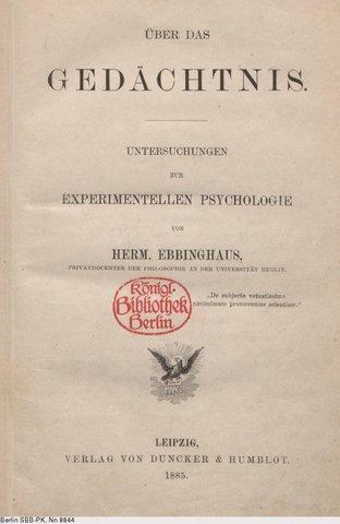 """""""Sobre la memoria"""" de Ebbinghaus"""