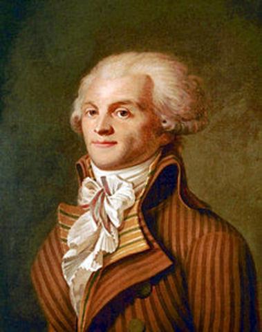 Il periodo del Terrore e la morte di Robespierre.