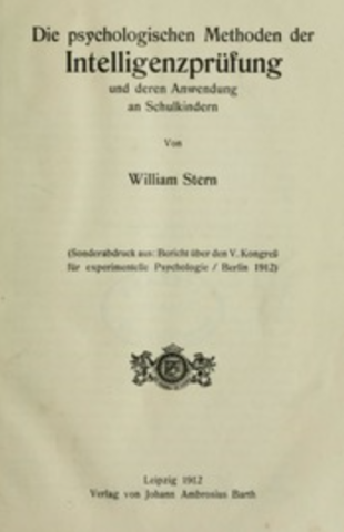 """""""Acerca de la psicología de las diferencias individuales"""" de Stern"""