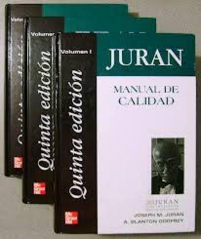 Juran publicó el primer manual de control de calidad.