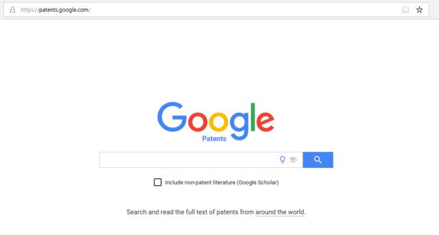 Google patent search