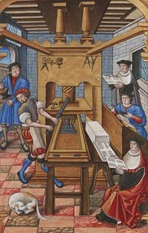 Invensión de la imprenta sobre papel
