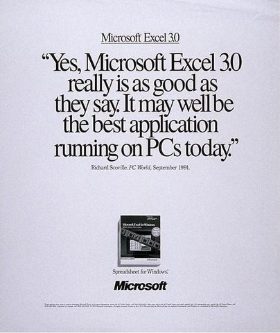 Microsoft Excel 3.0