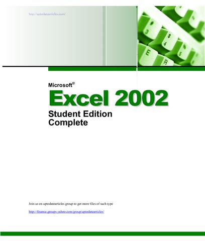 Microsoft Excel 10.0
