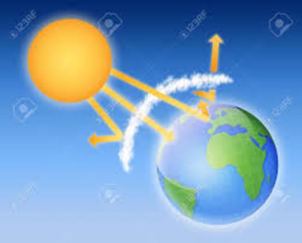 El efecto invernadero y la poca atmósfera del planeta esta causando que los rayos solares afecten al medio ambiente de nuestro planeta con cambios extremos del clima y escasez de agua en algunos sitios y la erosión del suelo