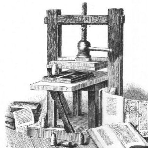 Invención de la imprenta Móvil moderna-Gutenberg