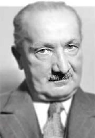 Él pensador Martin Heidegger