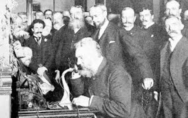 1876 Invento del teléfono