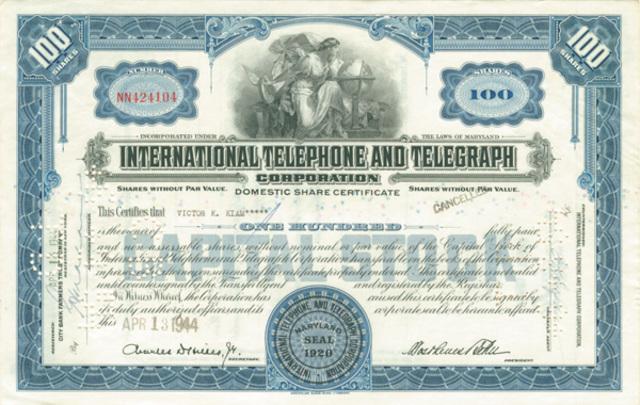 ITT (International Telephone and Telegraph)