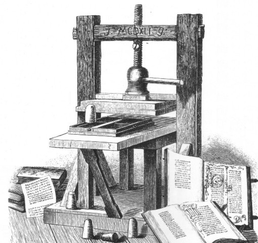 Aparición de la Imprenta