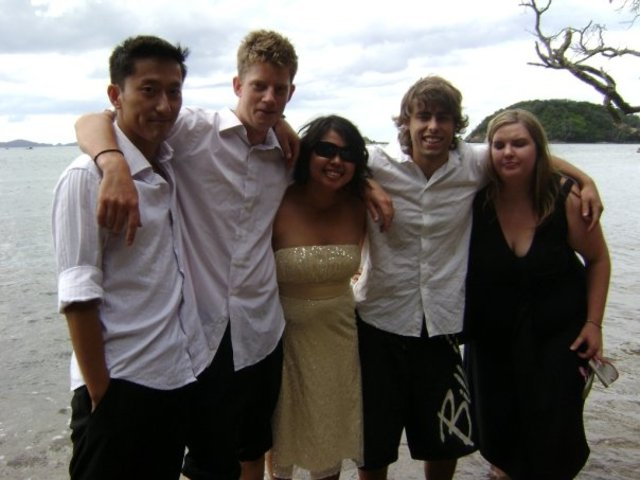 Photo of Sam and Susie at friends' wedding