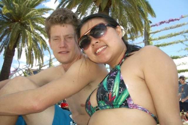 Photo of Sam and Susie on holiday in Brisbane