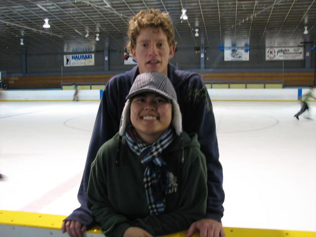 Photo of Sam and Susie ice skating