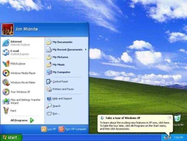 Sale el sistema operativo Windows XP (Computadoras)