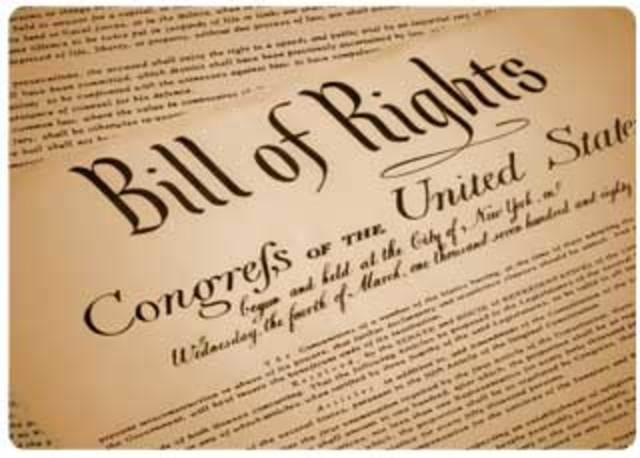 EE.UU. Carta de Derechos Incorpora a las Naciones de Libertad de Expresión.