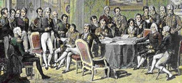 El Congreso de Viena esta en Manos de los Estados que Derrotaron a Napoleón.