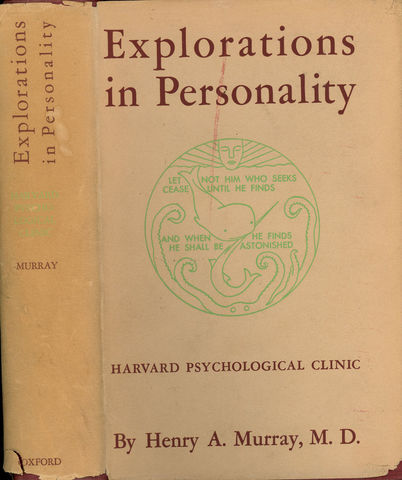 """Henry Murray publica """"Explorations in Personality"""""""
