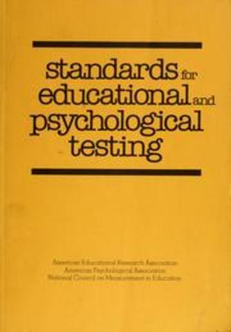 "Se publicaron los ""Standards for educational and psychological testing""."