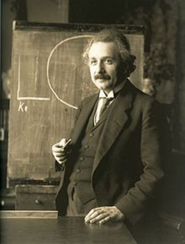 Albert Comes Up With the Theory of Relativity.