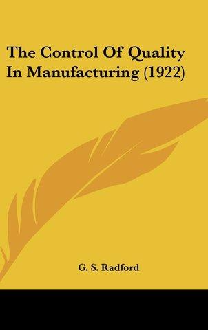 Control de Calidad en la Manufacturazión