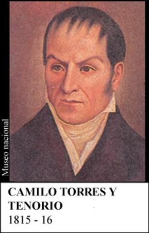 CAMILO TORRES Y TENORIO 1815-16