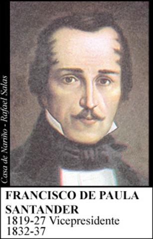 FRANCISCO DE PAULA SANTANDER 1832-37