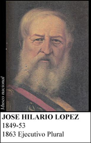 JOSE HILARIO LOPEZ 1849-1853