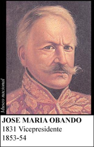 JOSE MARIA OBANDO 1853-54
