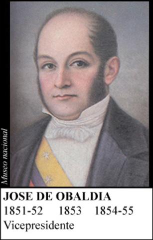 JOSE DE OBALDIA 1854-55