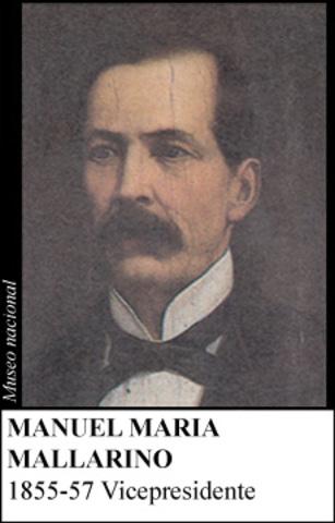 MANUEL MARIA MALLARINO 1855-57