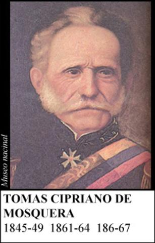 TOMAS CIPRIANO DE MOSQUERA 1861-64
