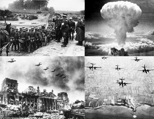 Guerras: Segunda Guerra Mundial.