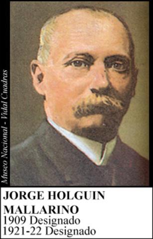 JORGE HOLGUIN MALLARINO 1921-22