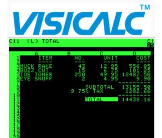 Se comienza a mercadear VisiCalc