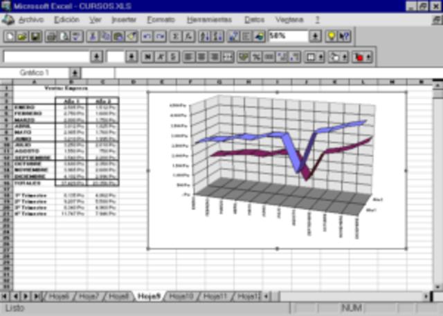 Excel versión 8