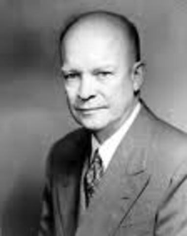 Eisenhower's bids farwell
