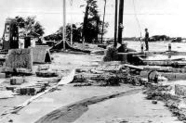Hurricane Carla Hits Texas Coast, Sept 1961