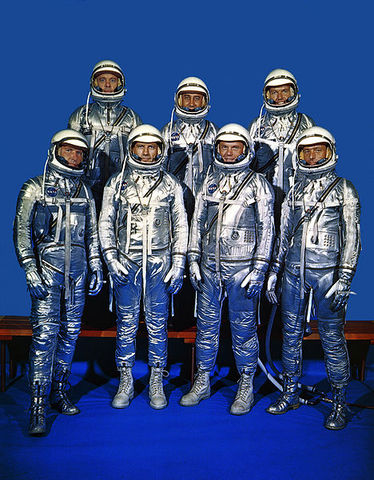 "The ""Mercury 7"" astronauts selected by NASA"