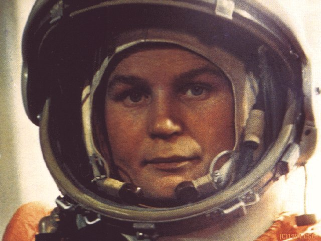 Valentia Tereshkova, USSR, the first woman in space.