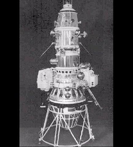 Luna 10, USSR, first spacecraft to orbit the Moon.