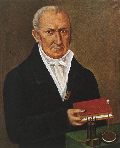 Alessandro Volta crea la primera batería eléctrica basada en cobre y zinc.